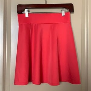 Charlotte Russe cute A-Line pink skirt - very chic